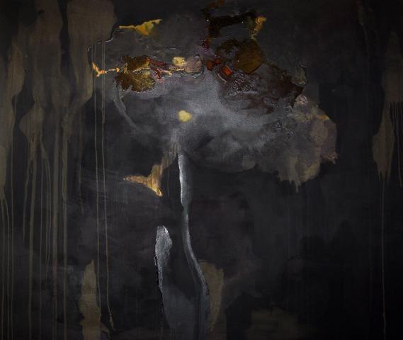 Nanci Amaka, Beast, 2009. Mixed media on canvas. 60 x 72 inches.